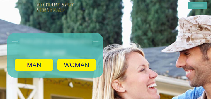 MilitarySpot Personals homepage printscreen